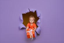 Cute Little Child Girl Breaks ...
