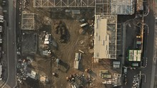 Aerial View Of Construction Of...