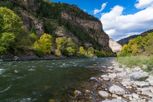 Colorado River In Glenwood Canyon, Colorado