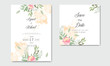 wedding invitation cards with beautiful floral
