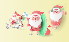 Summer Santa Claus Christmas D...