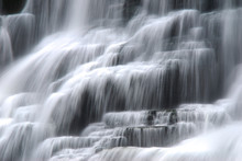 Cascading Waterfall With Smoot...
