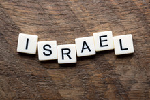Israel In Scrabble Letters On ...