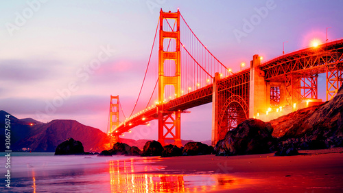 golden gate bridge in san francisco Wallpaper Mural