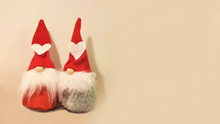 Toy Gnomes. Christmas Background.
