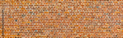 Foto Rustic brick wall in poster size