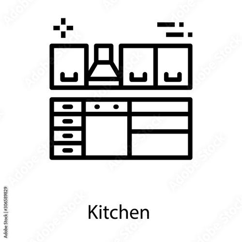Kitchen Solid Vector Slika na platnu