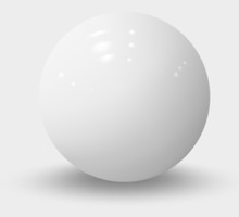 White Realistic Sphere Isolated On White. White Realistic Ball