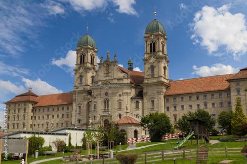 Einsiedeln Abbey  is  Benedictine monastery, Canton of Schwyz, Switzerland Canvas Print