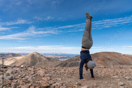 Canvas Print Handstands and Hiking In Colorado