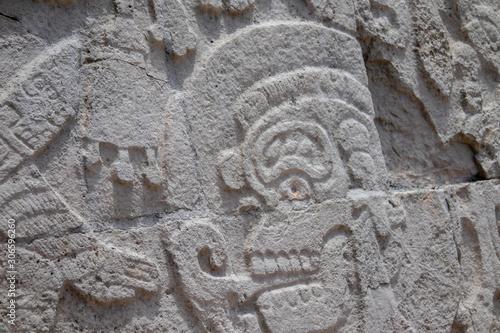 Stone Close Up Chichen Itza, Mexico