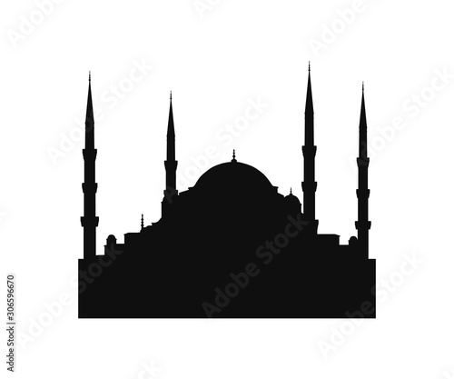 Fotografia mosque icon sign design