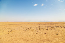 Desert On A Background Of Moun...