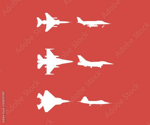 warcraft set icon sign design red background Wallpaper Mural