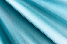 Turquoise Natural Draped Woven Fabric With Soft Pleats, Background