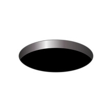 Black Round Hole On A White Is...