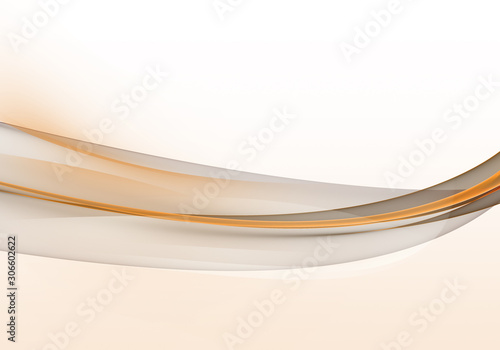 Abstract background waves. White, orange and grey abstract background for business card or wallpaper - 306602622