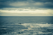 Stormy Sea In Dunbar, A Seasid...