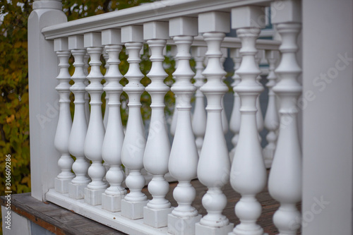 Architectural element on the porch of the baluster. Canvas Print