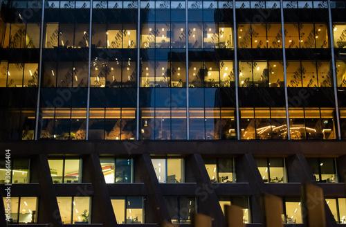 Fototapeta modern building at night obraz na płótnie
