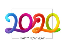 2020 Happy New Year Colorful G...