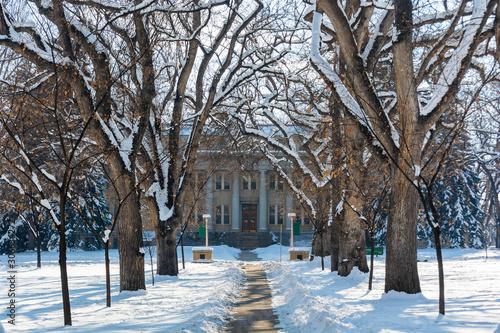 Colorado State University Administration Building in Fort Collins, Colorado Slika na platnu