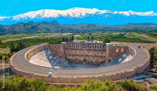 Fotografering Aspendos amphitheater - Antalya Turkey