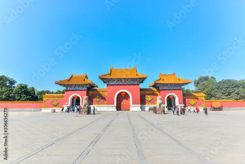 Fotografie, Obraz Shenyang zhaoling park gate, shenyang Zhao Mausoleum park gate, liaoning province, China