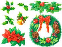 クリスマスの植物セット