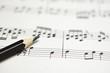 canvas print picture - 楽譜と鉛筆 作曲のイメージ