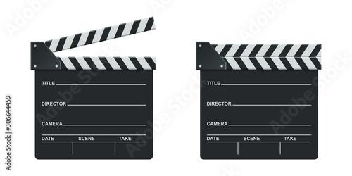 Fotografía Director clapboard vector design illustration isolated on white background