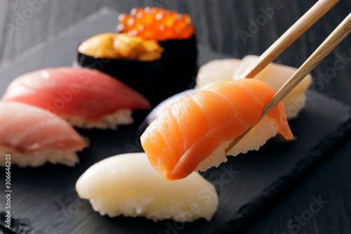 Obraz na plátně 寿司 Sushi. Japanese food