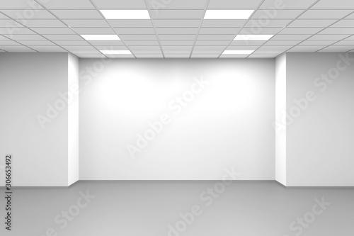 Fototapeta Abstract white symmetrical empty 3d interior obraz