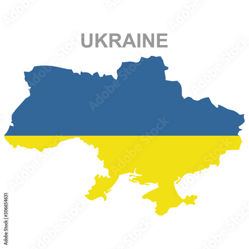 Maps of Ukraine with national flags icon vector design symbol Canvas Print