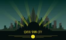 Diesel Punk Skyline City Rapture