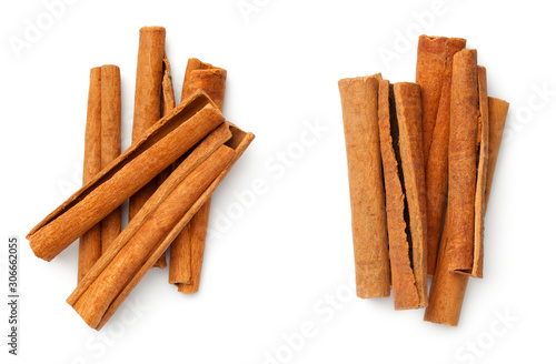 Foto Cinnamon Sticks Isolated On White Background