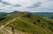 Along The Ridge To Mam Tor In The Hope Valley, Peak District, Derbyshire