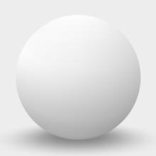 White Sphere Isolated On White. Vector Illustration.
