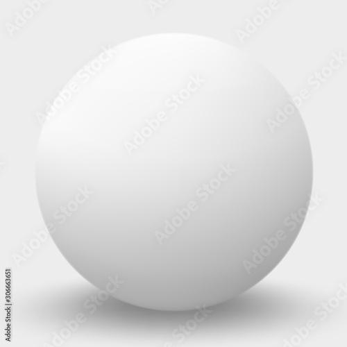 Fotografía White sphere isolated on white. Vector illustration.