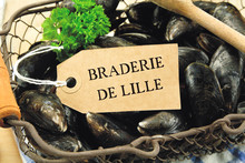 Basket Of Raw Mussels With A L...