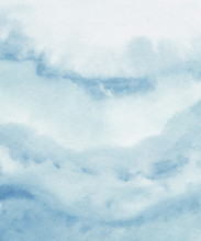 Blue Watercolor Brush Stroke B...