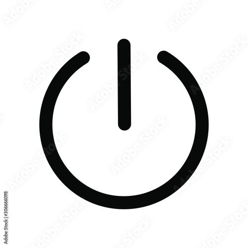 Vászonkép  Power Button vector icon in here.