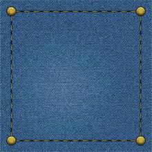 Frame On A Blue Denim Background
