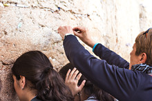 "Jerusalem, Israel - 17 November, 2019: Women Pray At The Western Wall A.K.A ""Kotel"" Or ""Wailing Wall"" In Jerusalem Israel"