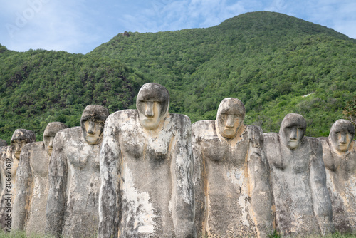 Slaves memorial with statues sculptures on Martinique island - France Wallpaper Mural