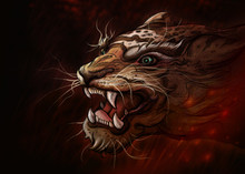 Tiger Of Art.digital Art Style...