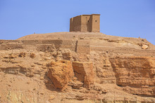 Storage Shed On Top Of A Hill Above The Ksar Of Ait Benhaddou