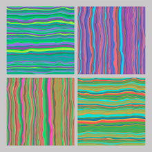 Set Of Abstract Striped Colorf...