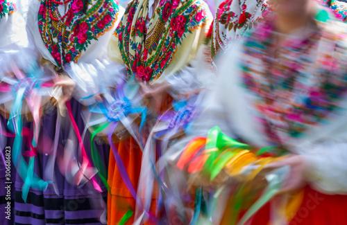 Spoed Fotobehang Carnaval Romería Ntra. Sra. de Valvanuz, Selaya, Valles Pasiegos, Cantabria, Spain, Europe