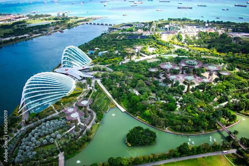 Singapore - January 7 2019: Singapore Gardens by the bay Wallpaper Mural